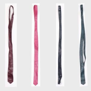 Cravatte in pelle