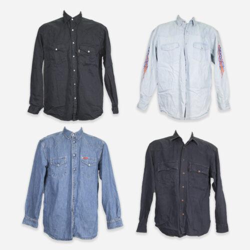 Camicie vintage jeans uomo