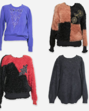 80-90's mohair/angora jumpers