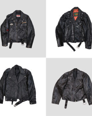 leather bikers studded jackets