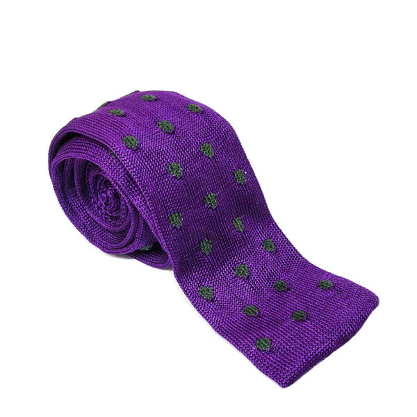 Cravatte in maglia di lana/seta/cotone