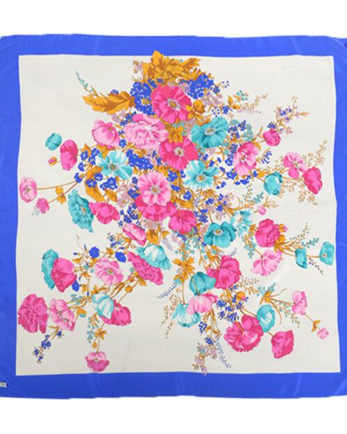 Foulard di seta tema floreale