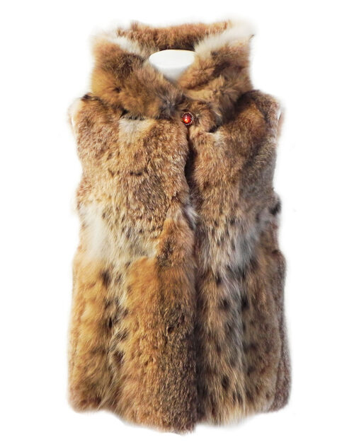 Giacconi smanicati di pelliccia di volpe