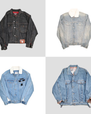 Vintage denim jackets with wool lining