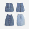 80-90's denim skirts