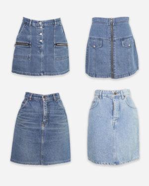80-90's denim skirts