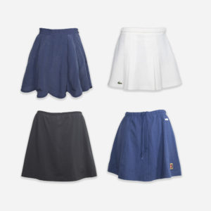 Sport branded tennis skirts and shorts