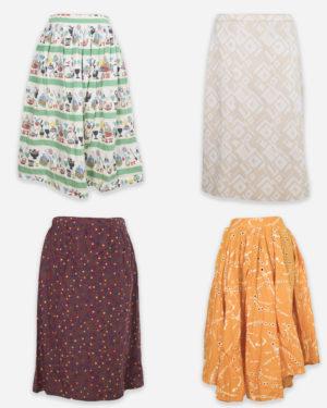 50-60s summer skirts