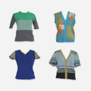 Light jumpers with short sleeves
