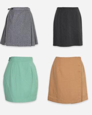 80-90s winter miniskirts