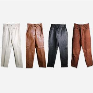 Pantaloni pelle donna