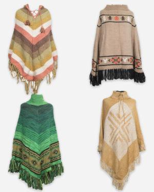 Poncho in lana donna