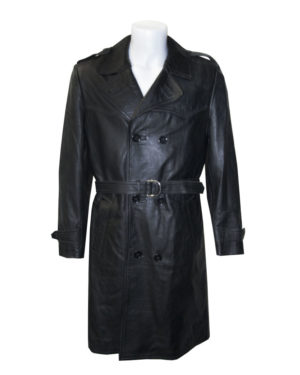 70's Leather trench coats