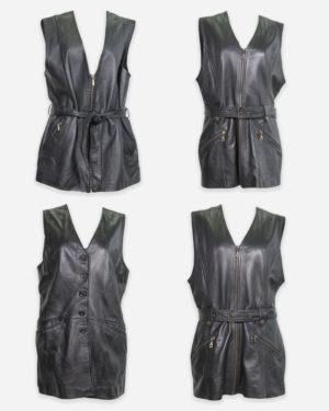 80-90s leather dresses