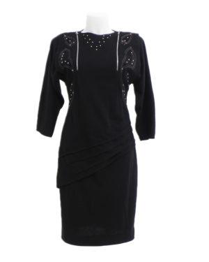 80-90's total black stretch dresses