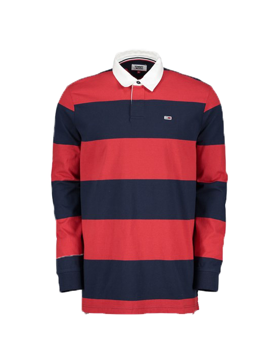 tommy-hilfiger-polo-manica-lunga-rugby-essential-blu-rosso-maxi-sport-rosso-cotone